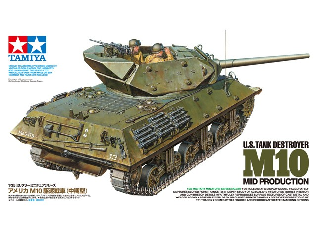 U.S. Tank Destroyer M10 Mid Prod - Tamiya 35350 - plastic model kit - 1/35 scale